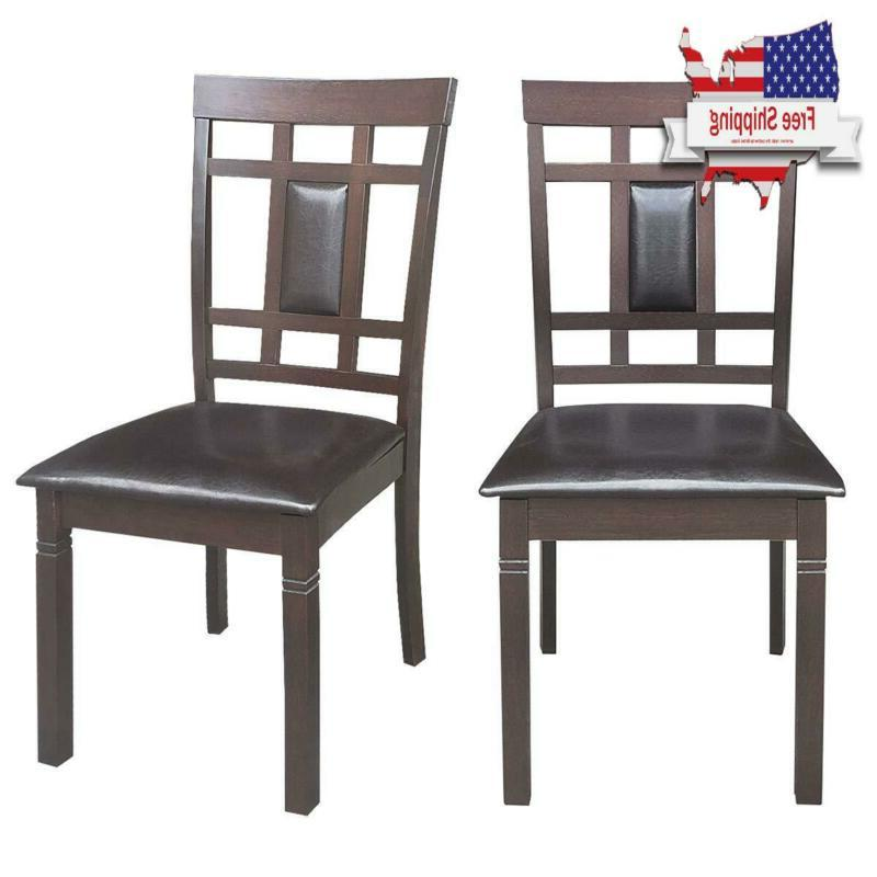 Giantex Set Of 2 Dining Chairs Wood Armless Chair Home Kitch