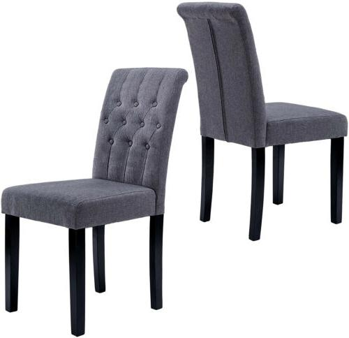 Set of Dining Chairs Backrest Upholstered Modern