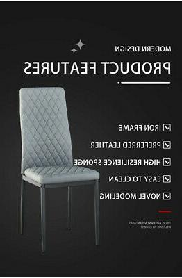 PU Chair Design Kitchen Leather of 4&6