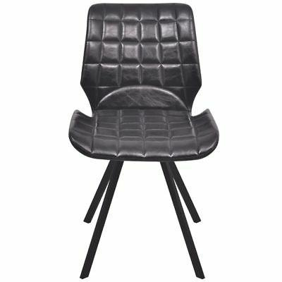 vidaXL Dining Office Living Room Kitchen Chair Artificial Leather Black