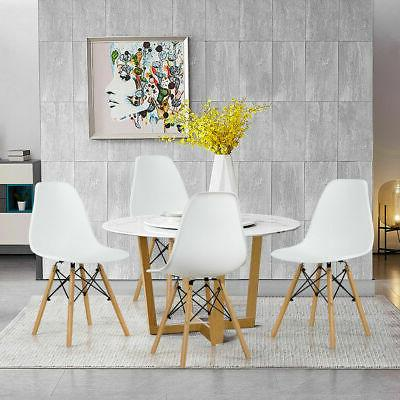 Set of 4 Pcs Mid Century Modern DSW Dining Side Chair Wood L