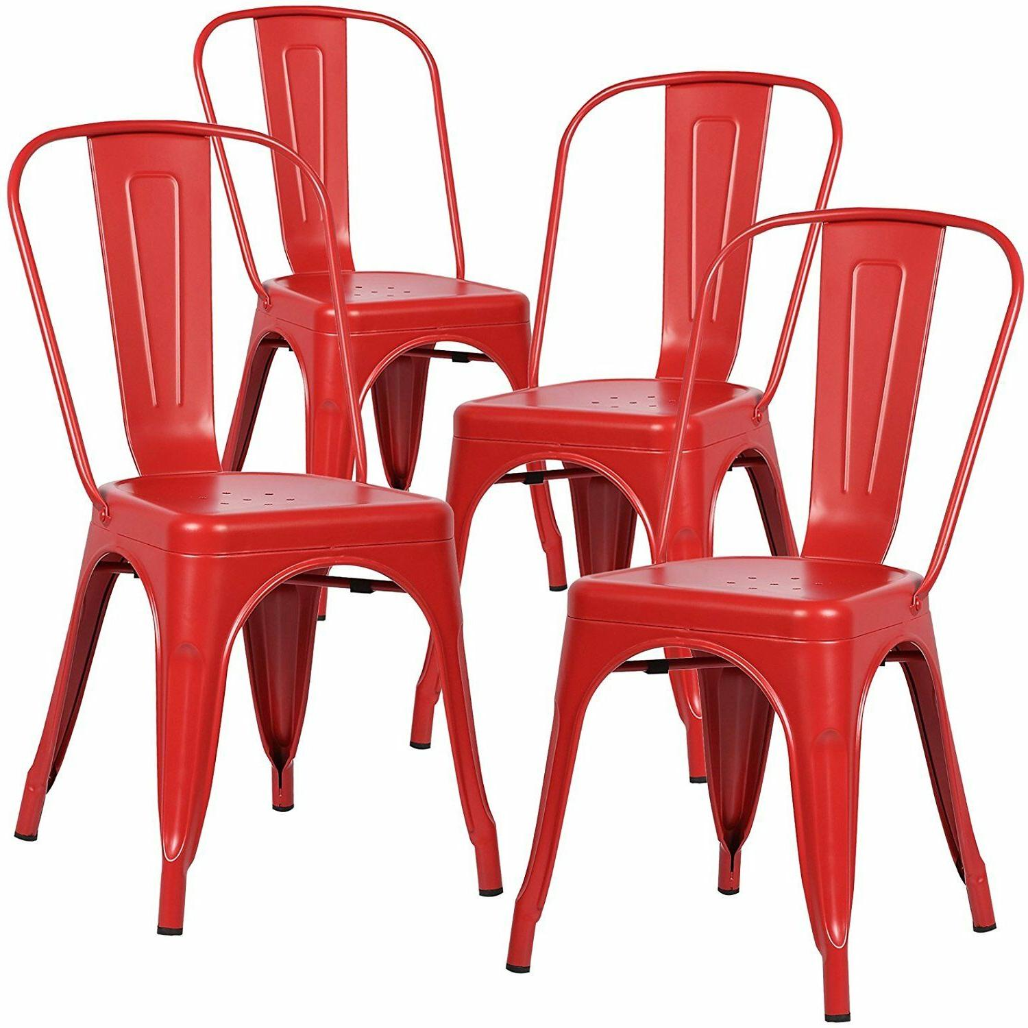 Set Style Dining Side Chair Stackable Cafe Stool