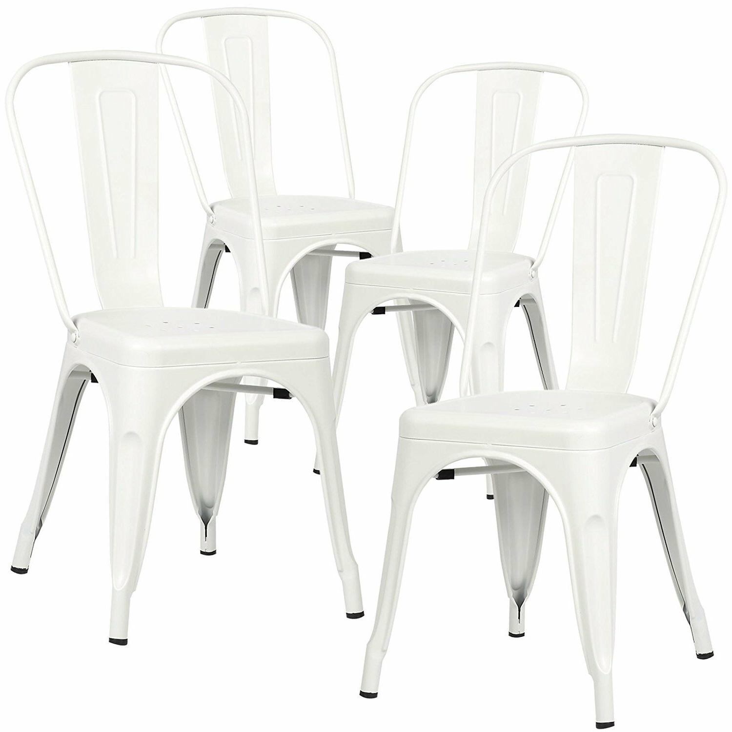 Set of Style Side Chair Stackable Bistro Stool Vintage