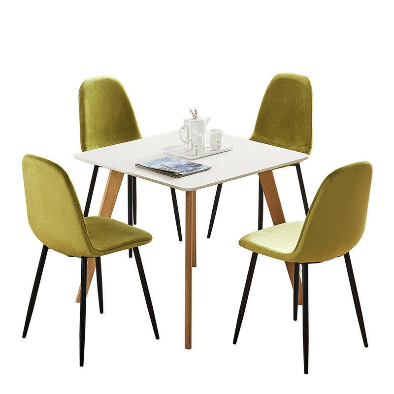 Set of 4 Dining Chair Metal Legs Dining Room