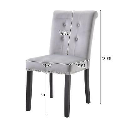 2/4/6 Set Dining Chair Accent Upholstered Leg Chair