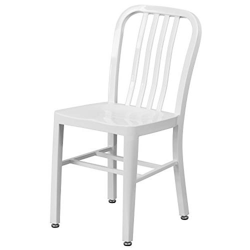 white metal indoor chair