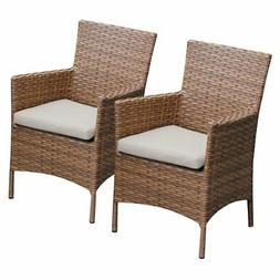 TK Classics Laguna Outdoor Dining Chairs - Set of 2 with 4 C