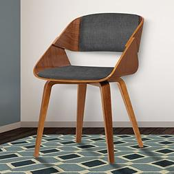 Armen Living LCIVCHWACH Ivy Dining Chair in Charcoal Fabric