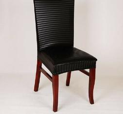 Leather Elastic Chair Covers Home Decor Dining Elegant High