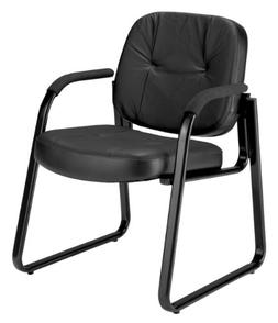 OFM 503-L Guest Chair - Steel Frame24 x 27 x 32.5 - Leather
