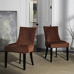 Lester Wooden Upholstered Dining Chair with Nailhead Trim -