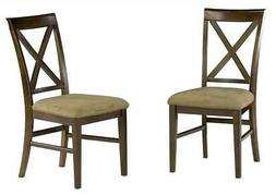 Lexington Dining Side Chair w X-Back Design - Set of 2