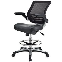 LexMod Edge Office Drafting Chair with Feet Ring, Mesh Back