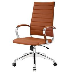 Modway Jive Ribbed High Back Executive Office Chair, Terraco