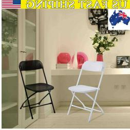 Lightweight Plastic Folding comfortable Chairs Black and whi