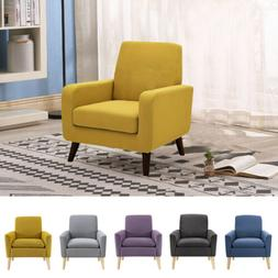 Living Room Modern Accent Fabric Chair Single Sofa Comfy Uph