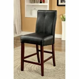 Furniture of America Marcson Counter Height Fully Upholstere