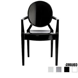 Mid Century Modern Dining Accent Plastic Chair Assembled Sta