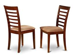 East West Furniture MLC-MAH-C Dining Chair Set with Padded S