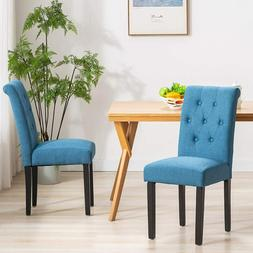 Modern Dining Chair Set of 2 Upholstered Kitchen Room Armles