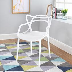 Modern Set of 2 Hollow-Out Abstract Pattern Chair