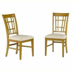 Atlantic Furniture Montego Bay Oatmeal Fabric  Dining Chair