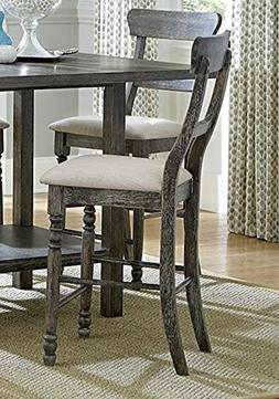 Muses Ladder-Back Counter Chair in Dove Gray