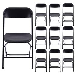 New Commercial Black Plastic Folding Chairs Stackable Picnic