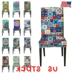 NEW Dining Chair Seat Covers Slip Cover Stretch Wedding Banq