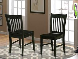 East West Furniture Nfc-Blk-W Dining Chair Set With Wood Sea