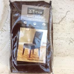 Sure Fit Oak Brown  - Shorty Dining Room Chair Slipcover