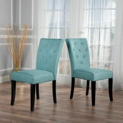 Ostrom Blue Fabric Dining Chair