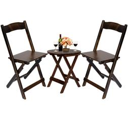 Outdoor Bamboo Wood Patio Dining Furniture Folding Table Cha