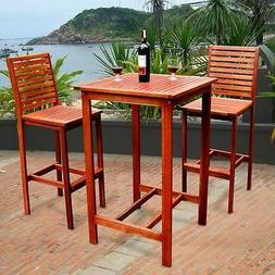 Outdoor Dining Set Lawn Patio Garden Table Chair Wood Bar To