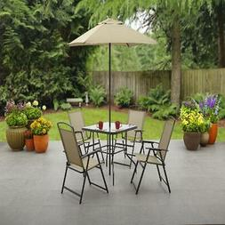 Outdoor Dining Set Patio Furniture Backyard with Table 4 Cha