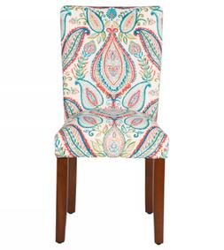 Parsons Pattern Dining Chair Wood  - HomePop