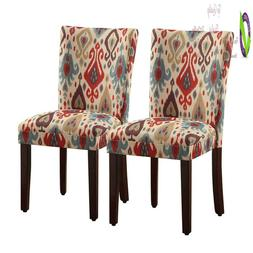 Homepop Parsons Upholste Accent Dining Chair, Set Of 2, Sien