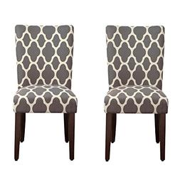 HomePop K6805-F2052 Parsons Classic Dining Chair, Set of 2,