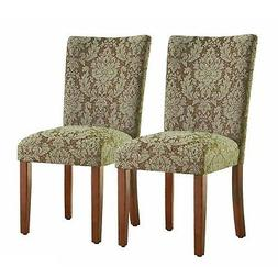 HomePop Parsons Upholstered Accent Dining Chair, Set of 2, B