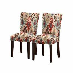 HomePop Parsons Upholstered Accent Dining Chair, Set of 2, S