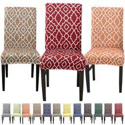 Pattern Chair Covers Spandex Dining Room Stretch Seat Protec