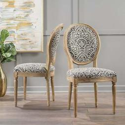 Phinnaeus Patterned Fabric Dining Chair  by Multi