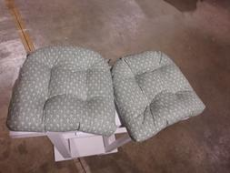 Pillow Perfect Diego Reversible Chair Pad - Set of 2