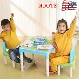 Plastic Kids Table And 2 Chairs Set, Teach Set For Boys Or G