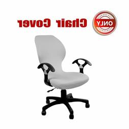 SYROVIA Pure Color Office Computer Dining Rotating Chair Cov