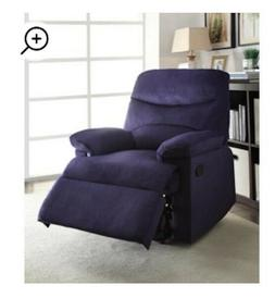 Recliner Chair For Center Living Room Media Lounge Navy Wove