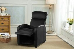 Reclining Accent Chair for Living Room, Faux Leather Cushion