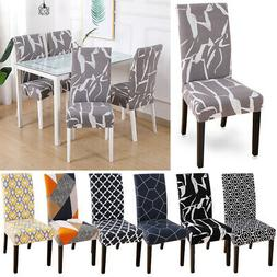 Removable Stretch Geometric Pattern Chair Cover Seat Cover F