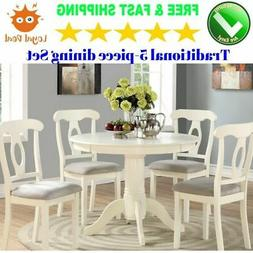 Round Dining Room Table Set For 4 With Chairs Small and Mode