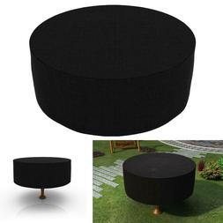 Round Patio Table and Chair Cover Waterproof Outdoor Furnitu